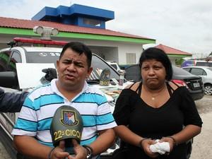 Casal foi preso na manhã deste sábado (Foto: Girlene Medeiros/G1 AM)