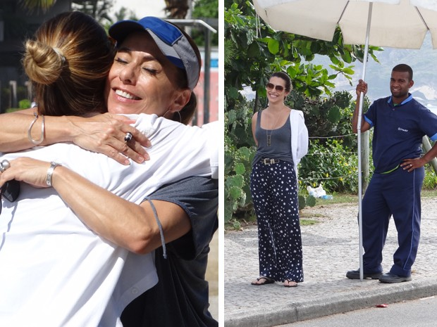 Cleo Pires também participou da gravação mais tarde, com Cissa Guimarães (Foto: Salve Jorge/TV Globo)