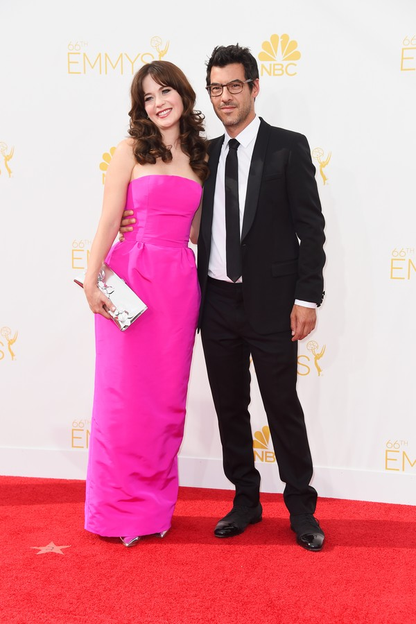 A atriz Zooey Deschanel e o seu marido, Jacob Pechenik  (Foto: Getty Images)
