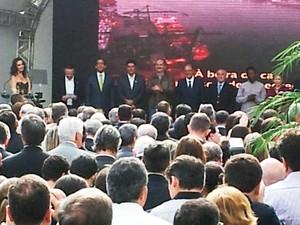 Vice-presidente Michel Temer participa de inauguração do Museu Pelé (Foto: Rodrigo Martins/G1)