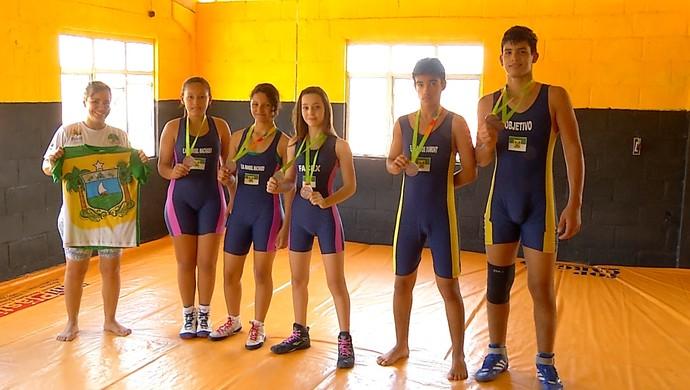 equipe olímpica jogos escolares da juventude (Foto: Reprodução/Inter TV Cabugi)