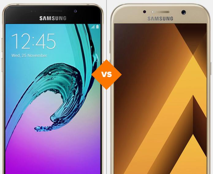 Galaxy A7 2016 e Galaxy A7 2017: veja o comparativo de ficha técnica (Foto: Arte/TechTudo)