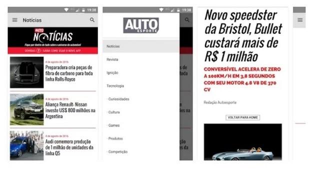 App Revista Auto Esporte (Foto: Divulgação)