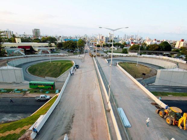 Trânsito no Trevo das Mangabeiras deve ser liberado a partir da terça-feira (1º) em João Pessoa (Foto: Francisco França/Secom-PB)