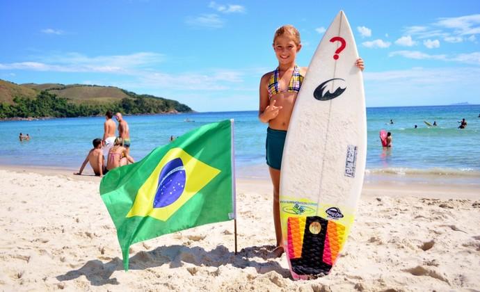 Pamella Mel surfista Maresias (Foto: Danilo Sardinha/GloboEsporte.com)