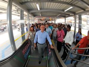 Rui Costa inaugura em Salvador estação de integração (Foto: Manu Dias/ GOVBA)