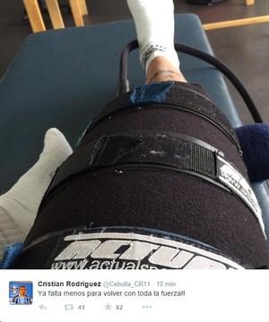 Cristian Rodríguez Cebolla meia Grêmio coxa (Foto: Reprodução, Twitter)