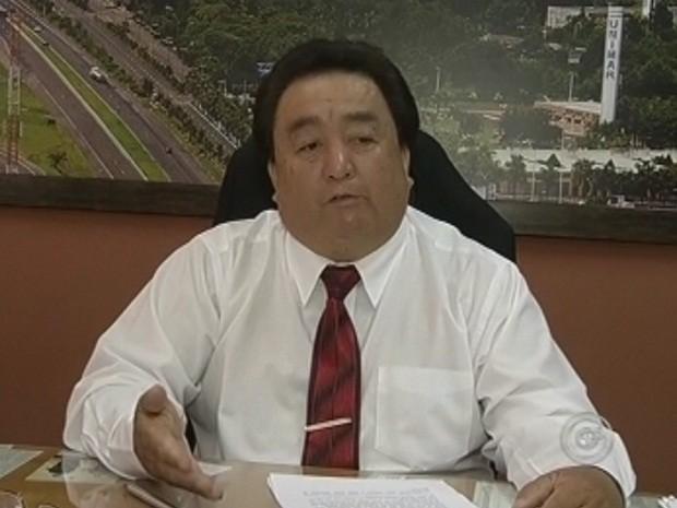 Yoshio Takaoka negou pedido verbal de afastamento (Foto: Reprodução TV Tem)