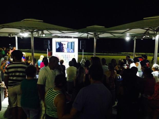 Público torceu para Félix e Nico ficarem juntos (Foto: Daniel Silveira / G1)