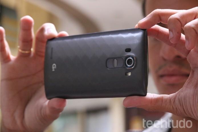 LG G4 se destaca com sua câmera, que promete ser a melhor do mercado de smartphone (Foto: Luciana Maline/TechTudo) (Foto: LG G4 se destaca com sua câmera, que promete ser a melhor do mercado de smartphone (Foto: Luciana Maline/TechTudo))