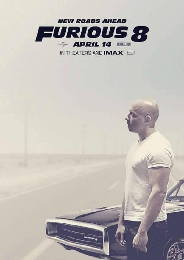 Vin Diesel revela o primeiro poster de 'Velozes e Furiosos 8'.