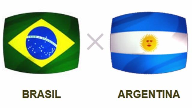 Brasil x Argentina (Foto: Reprodução)
