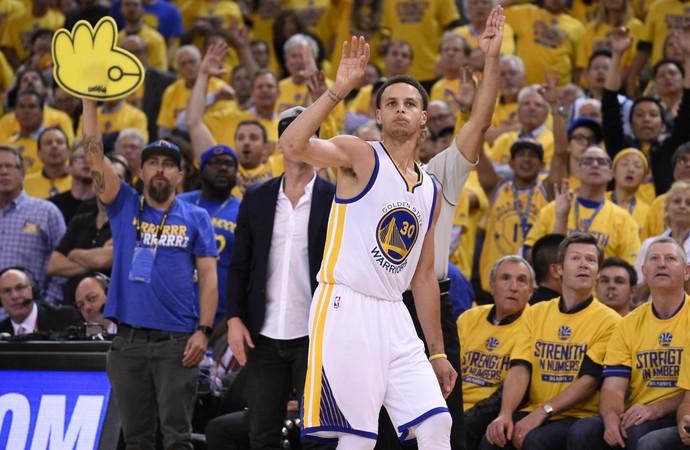 warrios x rockets Stephen Curry playoffs nba oeste (Foto: Reuters)