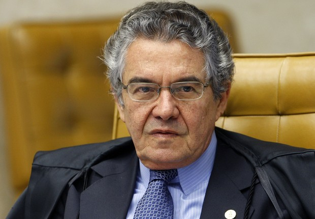 O ministro do STF Marco Aurélio Mello durante sessão na Corte (Foto: Nelson Jr./ SCO/ STF)