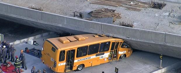 AO VIVO: viaduto desaba e mata 2 em BH (Viaduto desaba e deixa 2 mortos em BH (Viaduto cai e deixa mortos em BH (AO VIVO: viaduto cai e deixa mortos em BH (AO VIVO: viaduto e deixa mortos em BH (AO VIVO: viaduto cai sobre ônibus em BH (Viaduto desaba sobre ônibus em BH (Reprodução/Globonews)))))