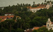 Do Alto da S, em Olinda, v-se o Recife (Luka Santos / G1)