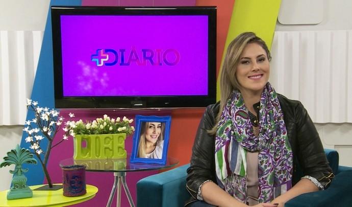 Jessica Leão no 'Mais Diário' deste último sábado (3) (Foto: Reprodução / TV Diário )