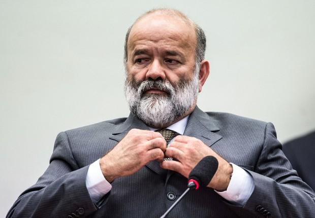 O ex-tesoureiro do PT João Vaccari Neto presta depoimento na CPI da Petrobras, na Câmara dos Deputados em Brasília (DF) (Foto: Marcelo Camargo/Agência Brasil)