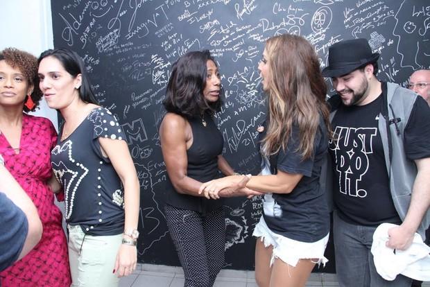 Ivete Sangalo recebe famosos em seu show (Foto: Thyago Andrade/Foto Rio News)