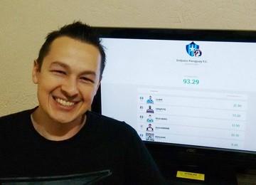 Cartoleiro Gustavo Lopes, líder da rodada da Liga Vanguarda (Foto: Arquivo Pessoal)