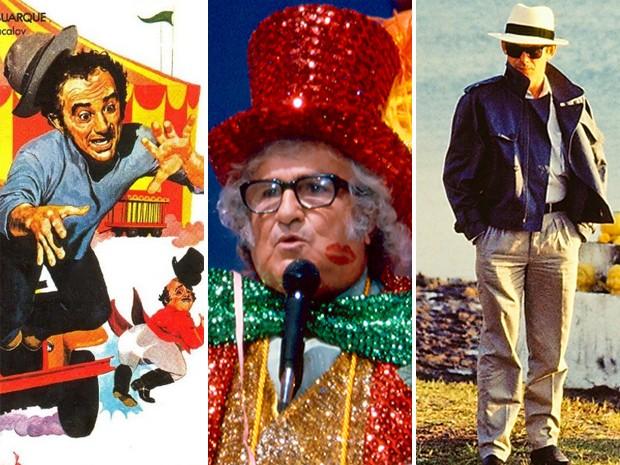 Imagens originais do cartaz do filme 'Os Saltimbancos Trapalhões' (1981), do programa 'Cassino do Chacrinha', nos anos 80, e da novela 'Roque Santeiro (1985). Mais conhecidas nas telas, estas histórias e personagens vão virar musicais em 2014 e 2015 (Foto: Divulgação e Site Memória Globo)