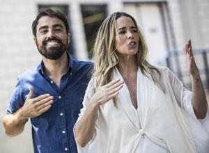 Ricardo Pereira e Danielle Winits (Foto: Raphael Dias/ TV Globo)