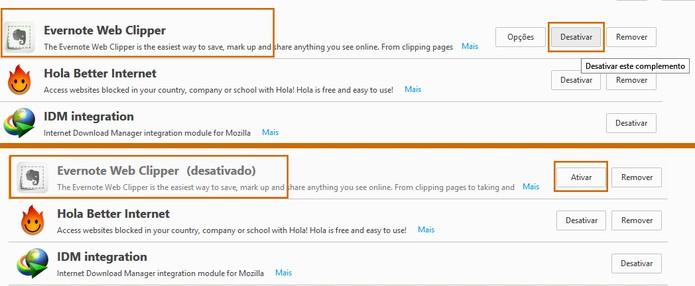 Ative e desative complementos no navegador Firefox (Foto: Reprodução/Barbara Mannara)