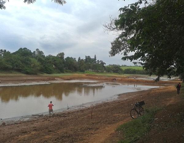 Represa do Marcelo abastece região central de Sumaré, SP (Foto: Mayara Alexsandra/VC no G1)