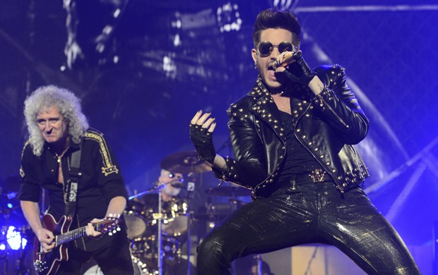 Show do Queen na República Tcheca com o vocalista Adam Lambert (Foto: AP Photo,CTK/Michal Kamaryt)
