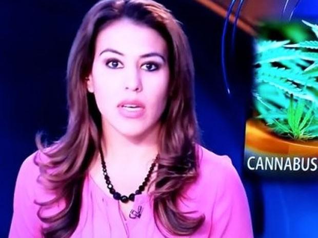 Atordoada com a declaração, apresentadora Alexis Fernandez fez um pedido de desculpas, antes do intervalo comercial. (Foto: Reprodução/YouTube/Danyelle DeSean)
