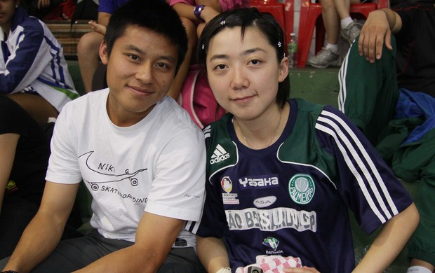 Zizao e namorada Lin Gui Jogos Abertos (Foto: Divulgação)