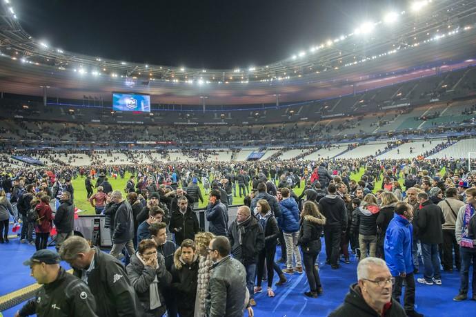 Torcida Stade de France França Alemanha (Foto: Getty Images)