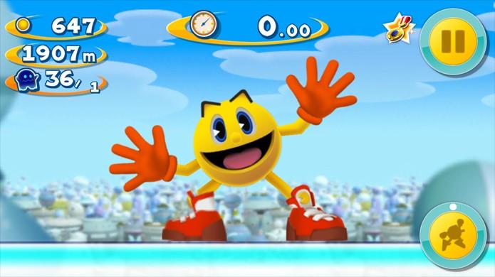 Pac-Man tem uma série de jogos divertidos para dispositivos Android (Foto: Jex Vidéo Mobile)