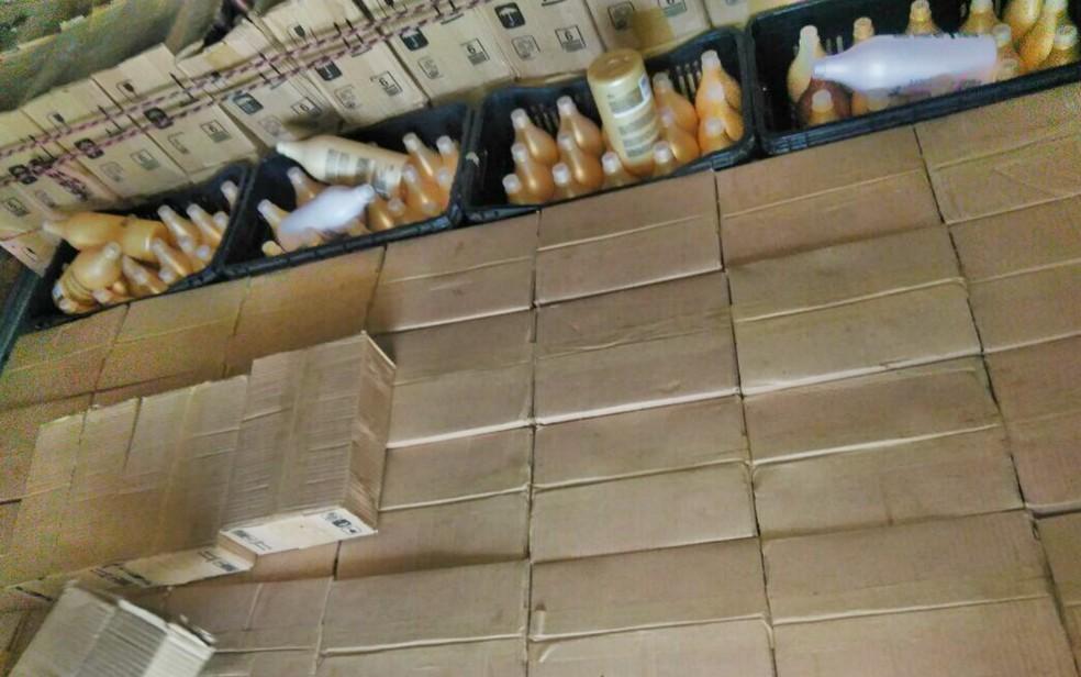 Gaeco diz ter apreendido R$ 500 mil em mercadorias no interior de São Paulo (Foto: Reprodução/EPTV)