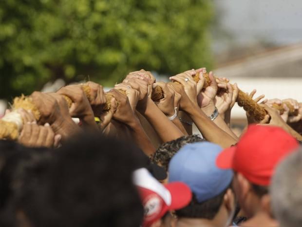 Corda do Círio (Foto: Marcelo Seabra/O Liberal)