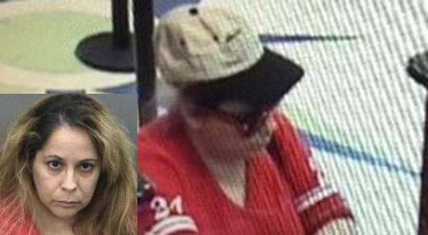 Cindy Carabeo roubou três bancos em apenas 25 minutos (Foto: Hillsborough County Sheriffs Office)