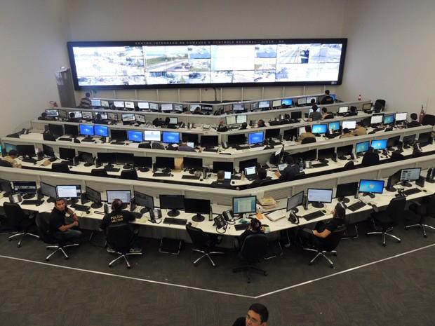 Foram investidos R$ 80 milhões em Centro de Controle que fica na Escola do Governo, em Natal (Foto: Felipe Gibson/G1)