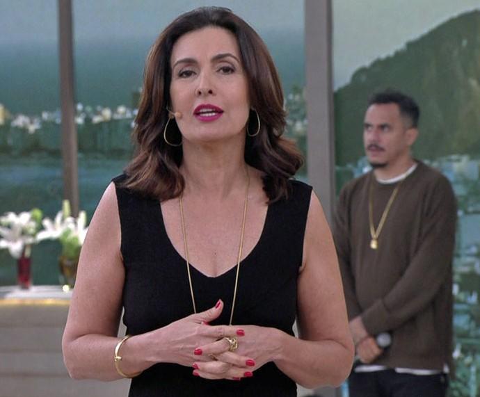 Fátima agradece aos amigos que a cobriram no 'Encontro' da última quarta, 30/11 (Foto: TV Globo)