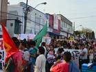 No AP, centrais sindicais fazem protestos contra reformas de Temer