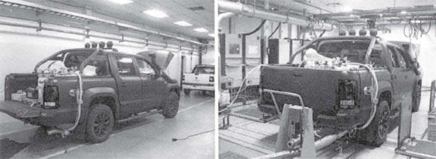 Volkswagen Amarok em testes com sistema Portable Emissions Measurement System - PEMS (Foto: Reprodução)
