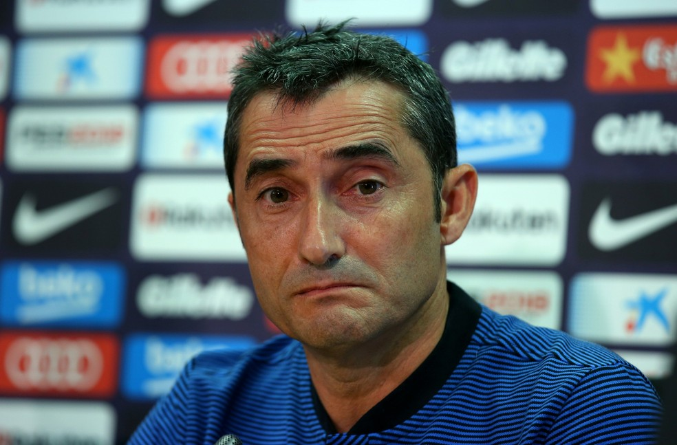 Ernesto Valverde conversou pela primeira vez com os jornalistas nesta segunda-feira (Foto: Reuters)