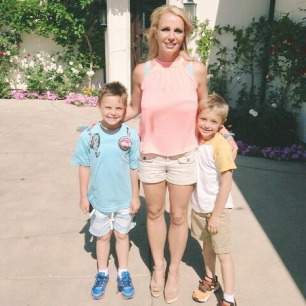 Britney Spears com os filhos  (Foto: Instagram/ Reprodução)