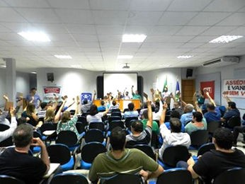 Bancários esclareceram dúvidas e suspenderam greve (Foto: Assessoria/Seeb-MT)