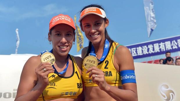 Talita e Taiana no Mundial de Vôlei de Praia (Foto: FIVB/Divulgação)