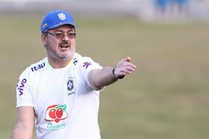 Rogerio Micale treino Brasil Granja COmary (Foto: Lucas Figueiredo / MoWA Press)