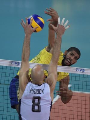 Brasil x EUA - Liga Mundial de Vôlei Arena Carioca 1 - Wallace (Foto: Divulgação/FIVB)