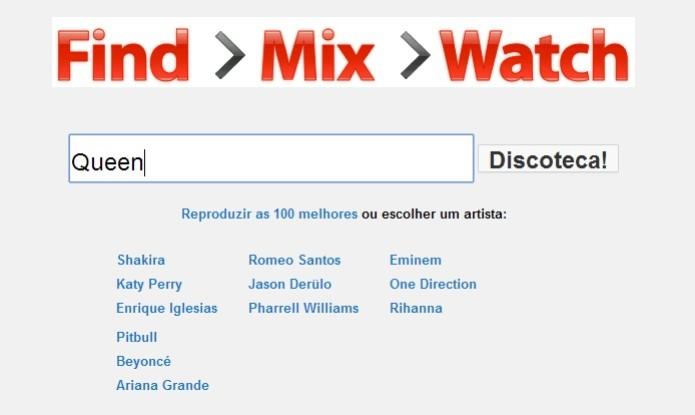 Página inicial da ferramenta YouTube Mix (Foto: Reprodução/Raquel Freire) (Foto: Página inicial da ferramenta YouTube Mix (Foto: Reprodução/Raquel Freire))