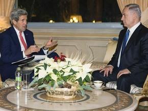 O secretário de Estado dos EUA, John Kerry, se reúne com premiê israelense, Benjamin Netanyahu, em Roma, na Itália, na segunda (15) (Foto: Reuters/Evan Vucci/Pool)