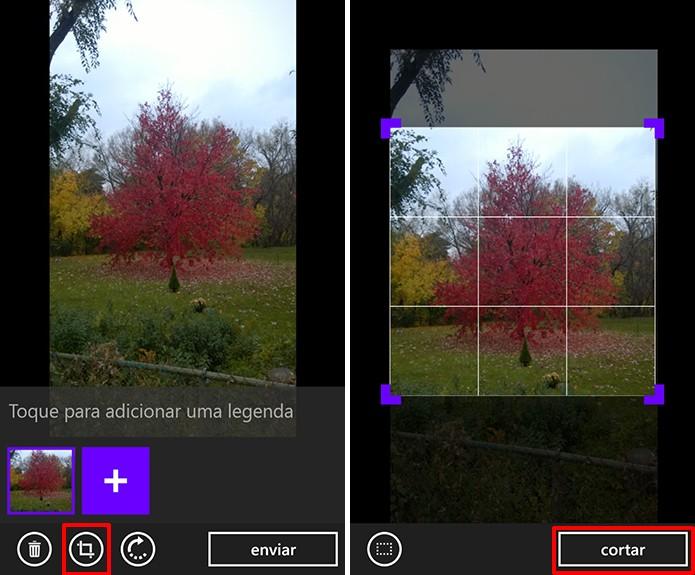 WhatsApp para Windows Phone agora traz ferramenta de corte de imagens antes de enviar (Foto: Reprodução/Elson de Souza)