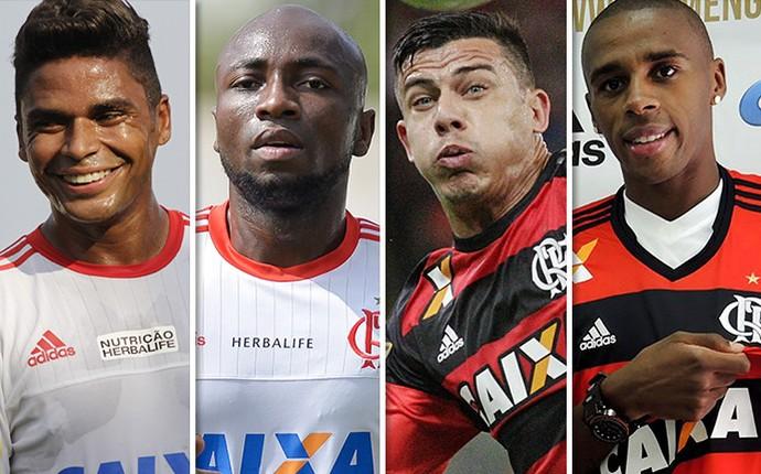 Montagem Flamengo 1 (Foto: GloboEsporte.com)